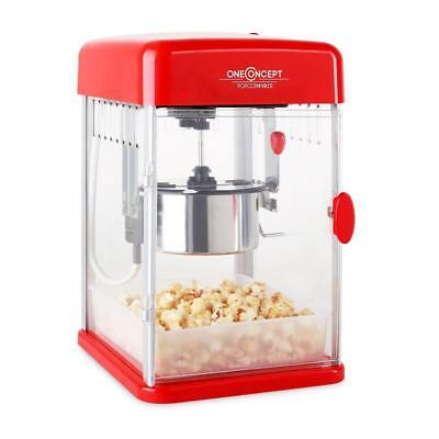 Oneconcept Electric Retro Kettle Popcorn Maker Machine Hot Air Kernel Popper