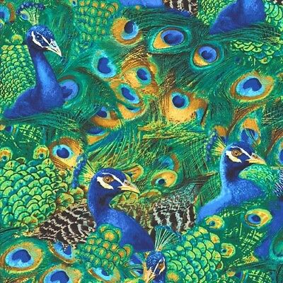 Peacock Flock - Emerald Green by Timeless Treasures cotton quilting fabric