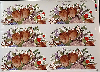 Ceramic Decals Tulip Bouquet 646420 W/d 201685 6 Mugs Matthey Right Price