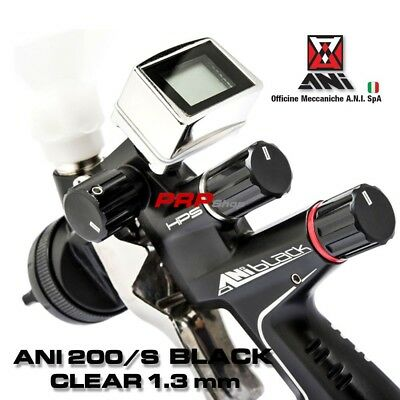 ANI 200/S Black CLEAR 1,3 ø Pistola a Spruzzo Manometro Digitale TMD1 Spray Gun