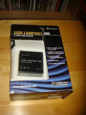 Sharkoon Usb Lanport 400 4 Port Usb Lan Nas Print Server Boxed New Fastpost