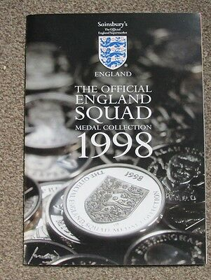 1998 England Squad Medal Collection. Sainsbury's. COMPLETE SET.