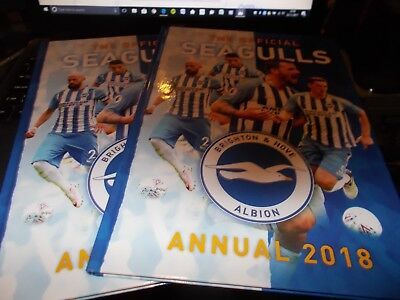 The Official Brighton & Hove Albion FC (SEAGULLS) - Annual 2018 - B/N -1ST CLASS
