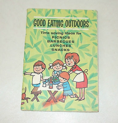 Esso Imperial OIL LTD, GOOD EATING OUTDOORS cookbook, picnics, Barbacues, 1962