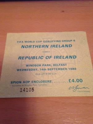 1988/89 Northern Ireland V Republic Of Ireland - Used Ticket