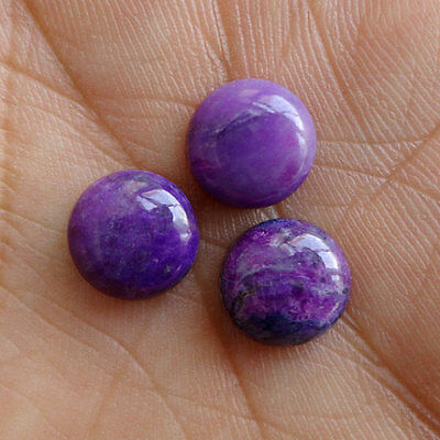 21MM Natural Purple Sugilite Lot, Round Shape, Calibrated Cabochons AG-217