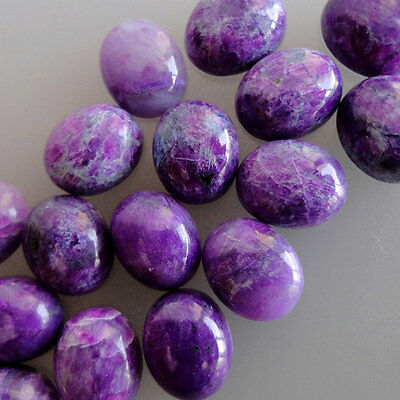 15x20MM Natural Purple Sugilite Lot, Round Shape, Calibrated Cabochons AG-217