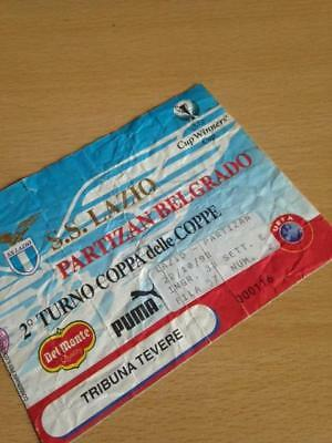 1998/99 Ss Lazio V Partizan Belgrade - European Cup Winners Cup - Used Ticket