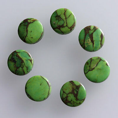 10MM Round Shape Green Copper Turquoise, Calibrated Cabochons, AG-228
