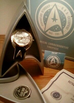 1995 RARE Fossil Watch Star Trek Offical Commemorative New!!