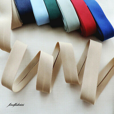 "18mm = 3//4/"" LYCRA All Way Stretch Handmade Bias Binding Tape ~ Plain Colours"