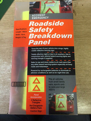 Accident Emergency Car Lorry Roadside Safety Breakdown Panel 146cm x 76cm