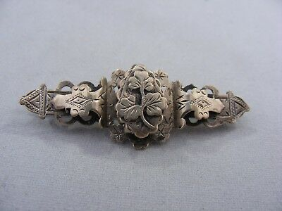 Antique Victorian Hallmarked Sterling Silver Sweetheart Brooch, B'ham 1900