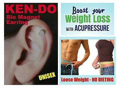 Unisex KEN-DO Magnetic WEIGHT LOSS Healing EARRING NO DIETING SLIMMING PILLS etc