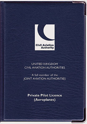 CAA Private Pilot Licence Holder Navy Blue
