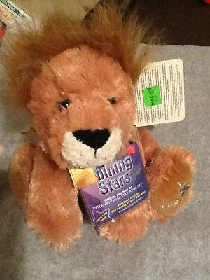 Russ Berrie Shining Stars Lion Plush Stuffed Animal With Tags And Code New