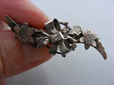 Antique Victorian Hallmarked Sterling Silver Sweetheart Brooch, Chester