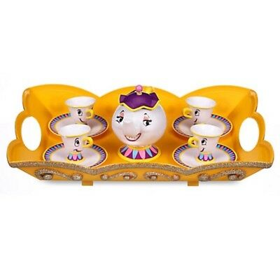 Disney Beauty And Beast Mrs Potts Chip Tea Set Play Set Cup Christmas Gift