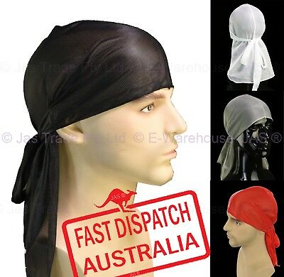 Du-rag Cap Wave Hair Head Cover Wrap Durag Tie Down Rapper Gangster Headwrap Hat