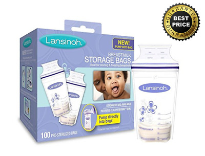 Lansinoh Breastmilk Storage Bags Baby 100 Count, BPA Free and BPS Free