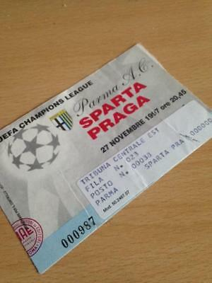 1997/98 Parma Ac V Sparta Prague - Champions League - Used Ticket