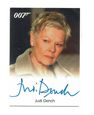 James Bond Archives 2009 Autograph Card Judi Dench as M in Casino Royale RARE