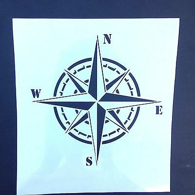 painting stencil nautical marine Compass wind rose, for different DIY projects