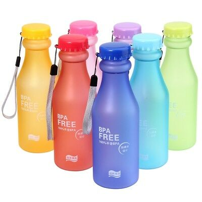Portable 550ML Water Bottle Plastic Juice Cup Pop Travel Mug for Outdoor Travel