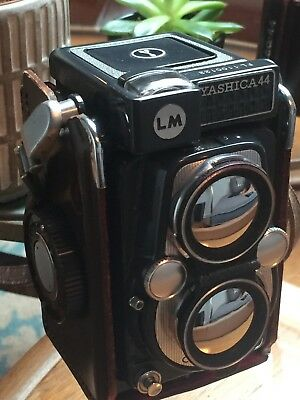 Rare pre owned, immaculate condition Yashica 44 LM TLR medium format camera
