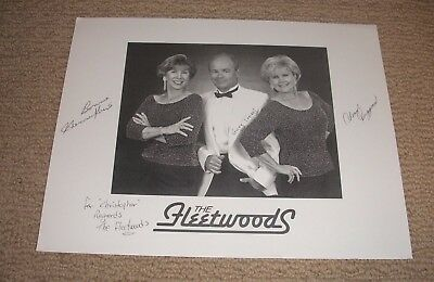 The Fleetwoods - Autographed 8X10 Photo *hand Signed*
