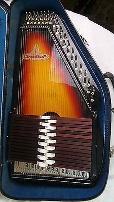 Vintage Sakova Chromaharp Autoharp With Case 15 Cord Model