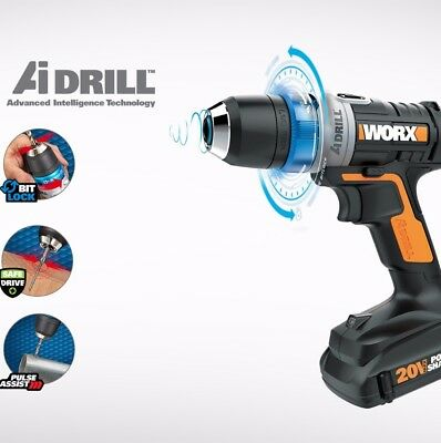 Worx 178 Drill driver pulse assist 20v lithium ion