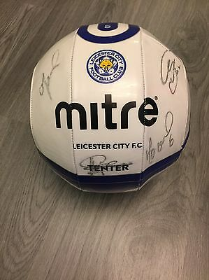 Leicester City 2010/11 Squad Signed Autographed Mitre Soccer Ball