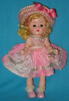 Pretty! Circa 1950s! GINGER DOLL in Pink Outfit