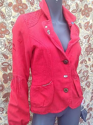 Vintage vibe Red Blazer Jacket Size med  12 by OBJECT JAP PUNK