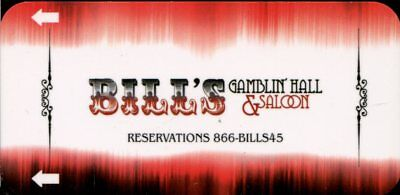 Las Vegas Bill's Gambling Hall & Saloon Casino Room Key - Slim