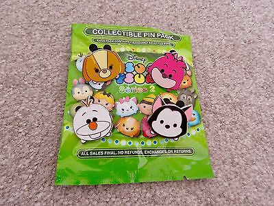 Disney Parks Pin Tsum Tsum #2 Mystery Pack Lady, Cheshire Cat, Olaf, Figaro Cat