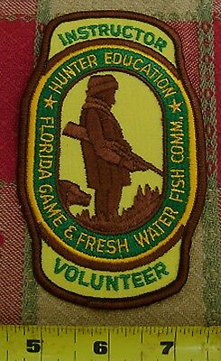FLORIDA GAME AND FRESH WATER FISH COMMISSION HUNTER EDUCATION INSTRUCTOR patch