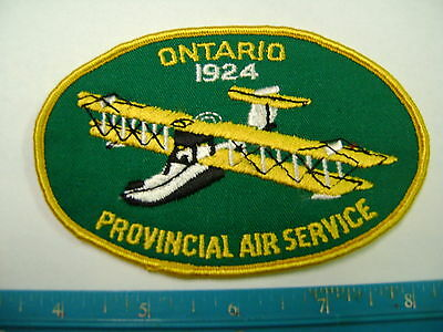 ONTARIO 1924 PROVINCIAL AIR SERVICE PATCH flying,vintage airplane,Canada,plane