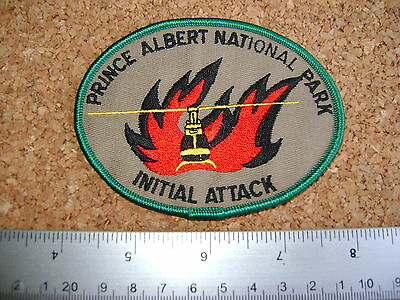PRINCE ALBERT NATIONAL PARK ITITIAL ATTACK PATCH fire fighter,conservation,MNR