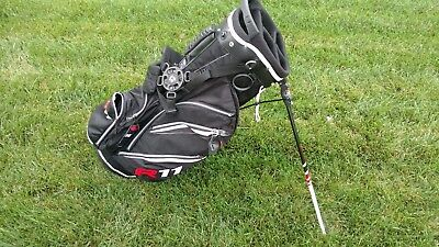 New Taylormade R11 Dual Strap Black/White/Red Stand Golf Bag w Raincover