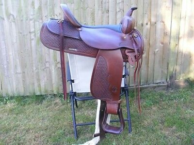 17 inch Circle Y Saddle used twice only