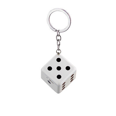 USB Rechargeable Dice Shaped Lighters Windproof Dice Key Chain Lighter Gift Box