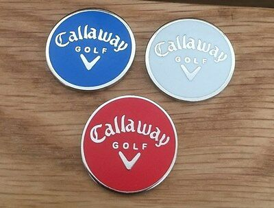 Set of three Callaway Magnetic golf ball markers                    m40