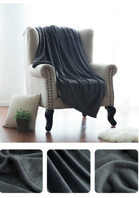 Ultra Soft Micro Plush Flannel Fleece Throw Blanket King Full Twin Solid Color