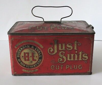 Just Suits Antique Lunchbox Tin, Buchanan & Lyall Of New York