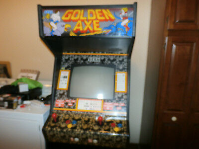 """Golden Axe Arcade Coin Operated Video Game by Sega""""Perfect Working Rare Machine"""""""