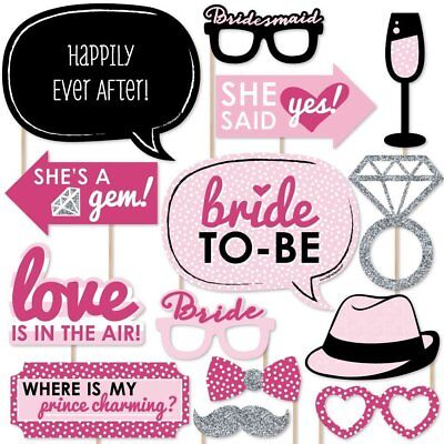 Happium - Bride To Be Party Photo Booth Props Kit - 20pcs