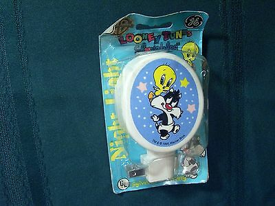Looney Tunes Lovables Baby Sylvester/Tweety Night Light 1995 GE Warner Bros. NIP