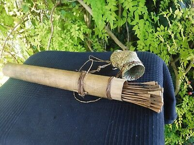 ANTIQUE - Blow Pipe Needles with Bamboo Case